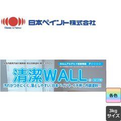 清潔WALL 清潔ウォール 白 ND色 淡彩 3分つや有 3kg ニッペ 水性 (約16-17平米|2回塗り)