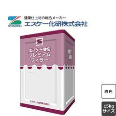 エスケー弾性プレミアムフィラー 白 15kg エスケー 水性 (約15-75平米|1回塗り)
